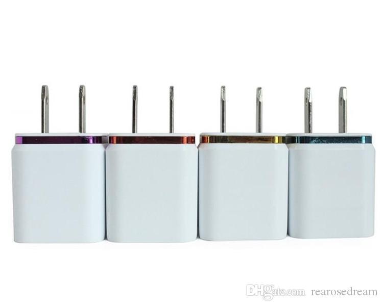 Metall Dual USB Wall Charger US EU-Stecker 2.1A Wechselstrom-Adapter-Wand-Aufladeeinheits-Stecker 2 Port für Xiaomi Huawei Iphone Samsung Galaxy Handy