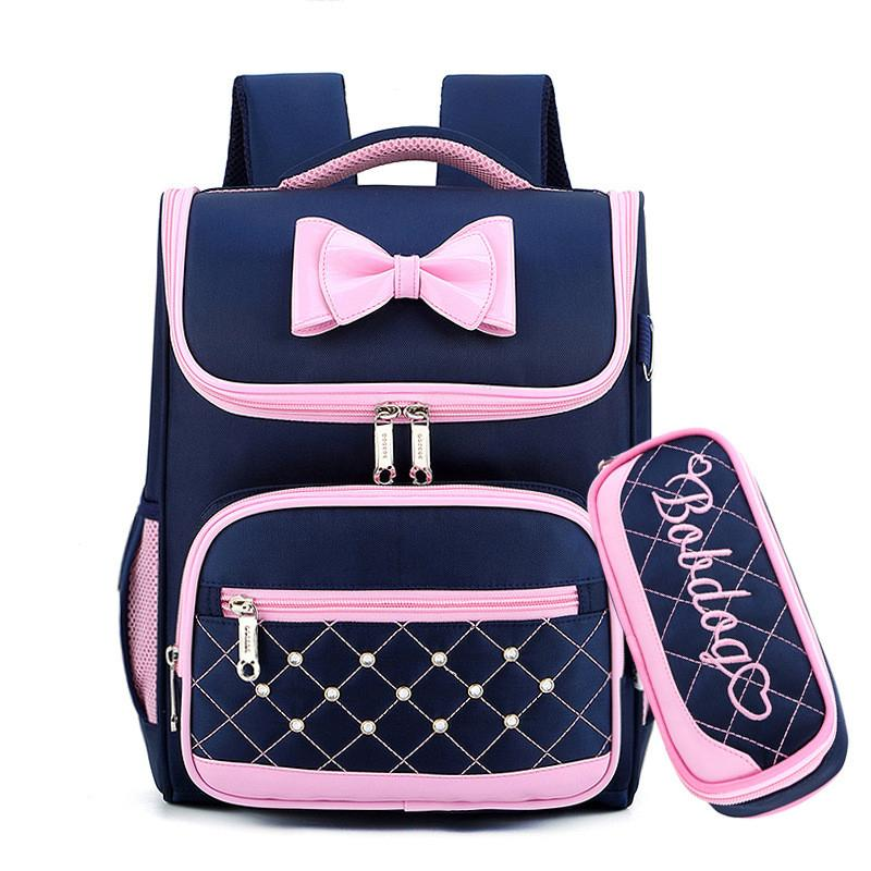 Cute Bow Princess Backpack Backpacks Girls Kids Satchel School Bags For Kindergarten Mochila Escolar Rucksacks Q190530