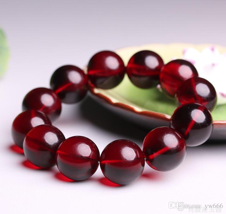 Natural wine red Baltic beeswax blood percussion bracelet red transfer men and women models bracelet gift wholesale