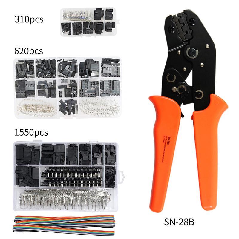 Tools SN-28B 310/620PCS/1550PCS dupont crimping tool kit jst xh crimp pliers terminal ferrule crimper wire hand tool set
