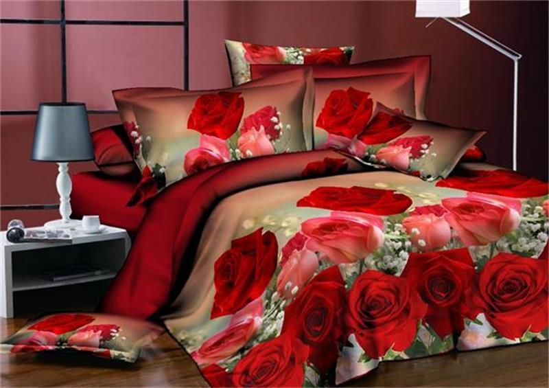 BEST.WENSD 새로운 침대 시트의 킹 사이즈 이불 커버 세트 침구 세트 아이들 전체 퀸 사이즈 3D bedclothing 이불 침구 세트 꽃