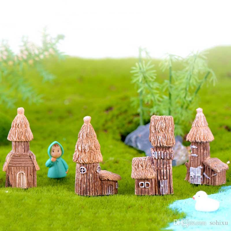 2020 Cottage House Home Decor Resin Crafts Terrarium Figurines