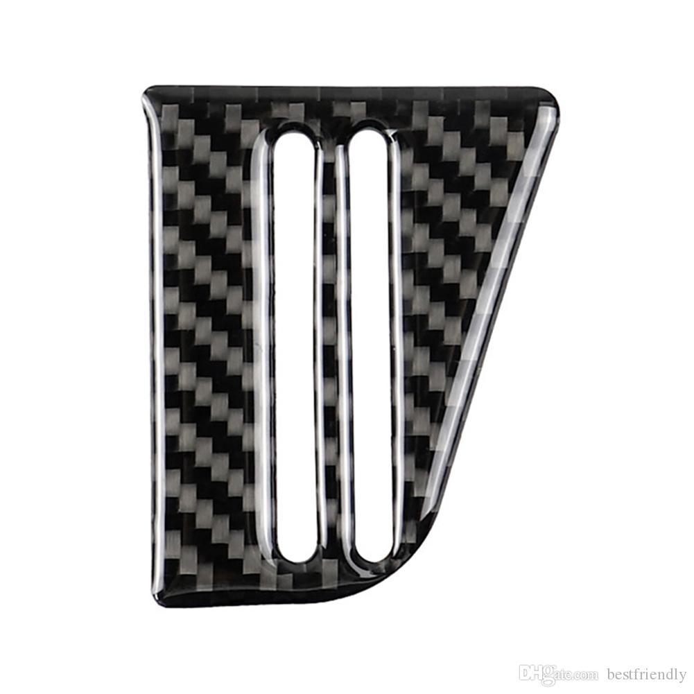 Carbon Fiber Center Console Card Slot Cup Decorative Trim Stickers Car Interior Modification Accessories For Volkswagen VW LaVida 2015 2016