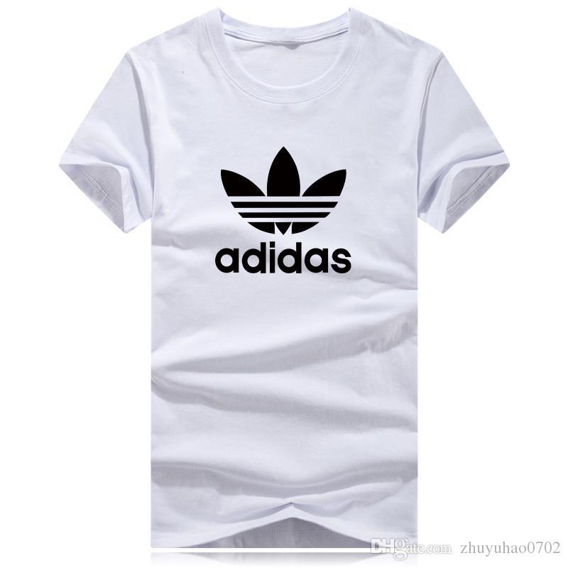 18ss Marca de Moda de Calidad Superior Nuevo Equipo de Dibujos Animados Camiseta Cuello Camiseta Verano Nuevos Hombres Mujeres Camiseta Hip Hop Camiseta Casual Moda mangas cortas