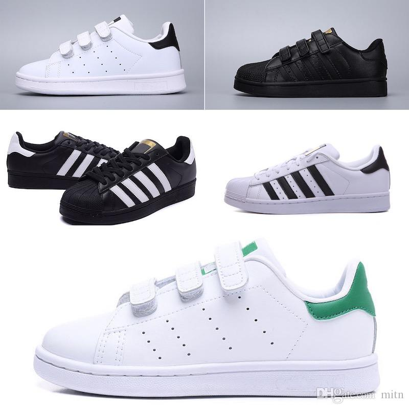 Adidas Superstar scarpe per bambini ragazzi ragazze sneakers 2018 primavera autunno inverno nuovo arrivo moda super star scarpe casual adolescenti calzature bambino