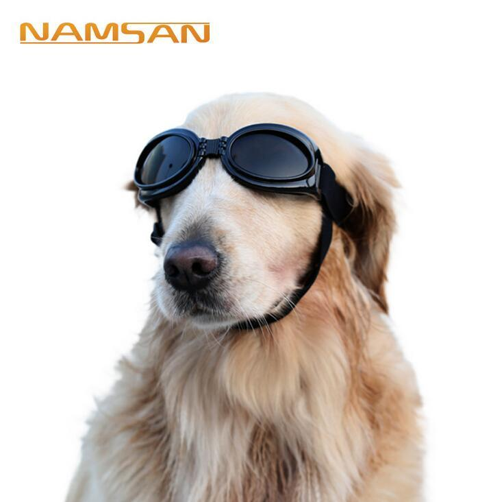 Dog Protection Goggles UV Sunglasses Foldable Cool Pet Dog Glasses Medium Large Dog Pet Glasses Pet Eyewear Waterproof Protective Sunglasses