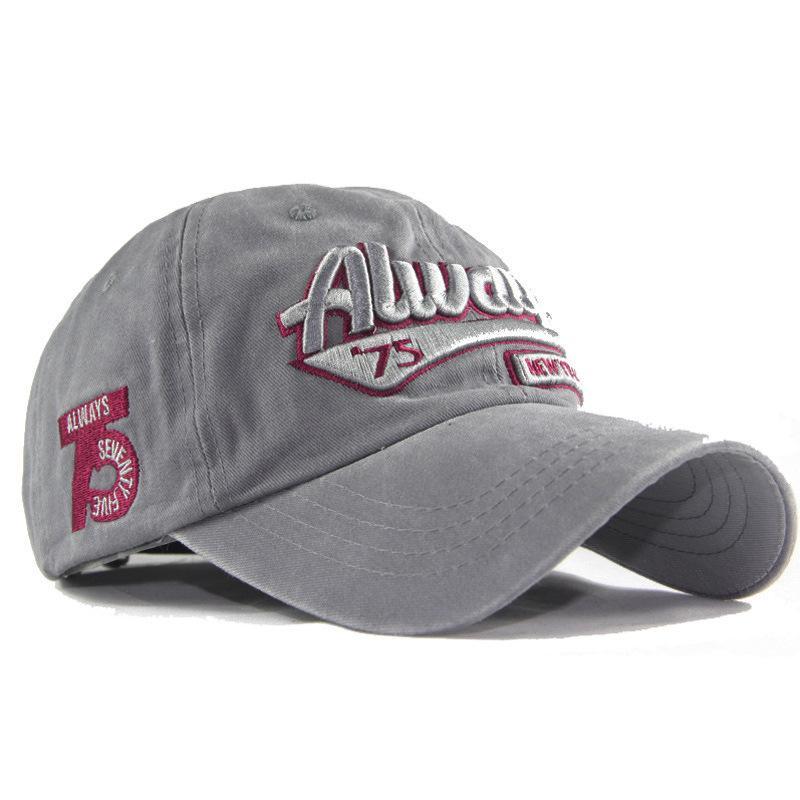 패션 워시 코튼 3D 모자 스테레오 자수는 항상 75 자의 글자 야구 모자를 씻어 냈습니다.