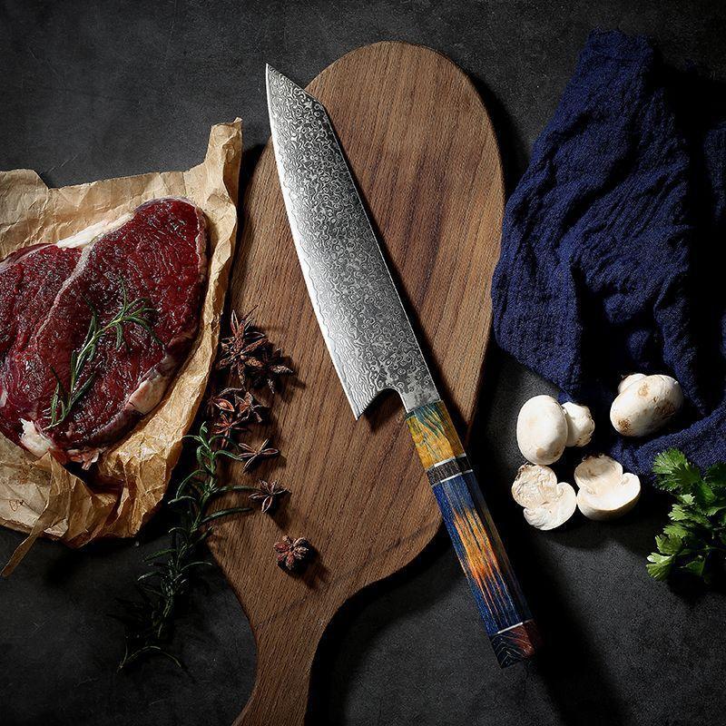 de suşi Şam çelik VG10 para cocina Cuchillo, Cuchillo de carnicero para cortar verduras Cuchillo cocina saşimi bıçak mutfak bıçağı