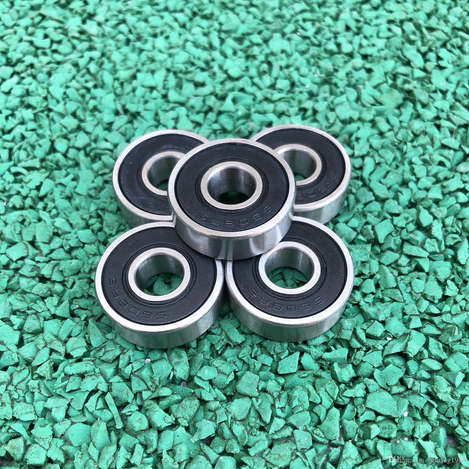 50pcs/lot S608-2RS S608RS S608 2RS RS ABEC-5 8x22x7mm skates drift board stainless steel Deep Groove Ball bearing shielded 8*22*7 608 608-RS