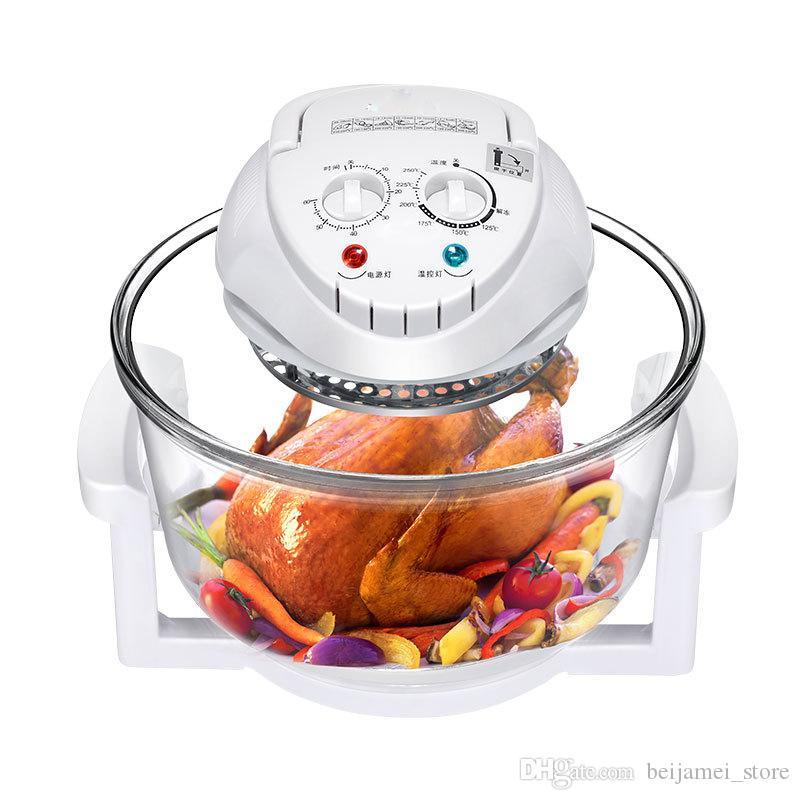 Candimill 12L ذكي المقلاة الهواء الزجاج المقلي الفرنسية الدجاج آلة القلي صحي لا أبخرة التدفئة ثلاثي الأبعاد