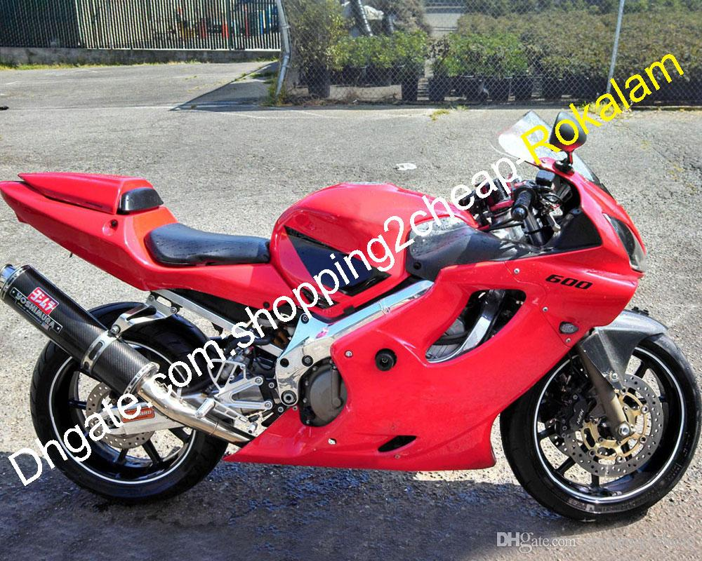 Moto Shell For Honda CBR600 CBR600F4i 01 02 03 F4i CBR 600 600F4i 2001 2002 2003 Fairing Red Black (Injection molding)