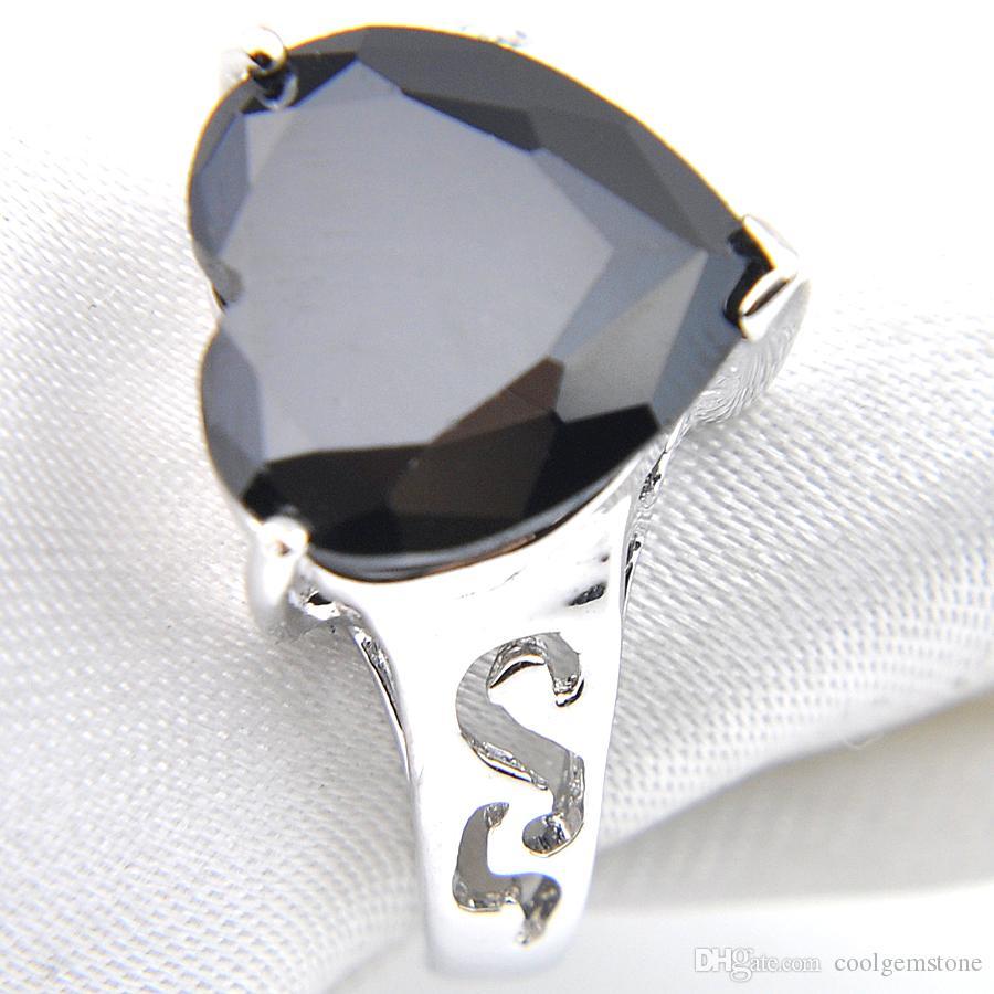 Darmowa Wysyłka - Hight Quality Hurtownie 925 Silver Lovely Heart Crystal Cyrkon Rings Moda Kobiety Biżuteria Pierścionek Nowy