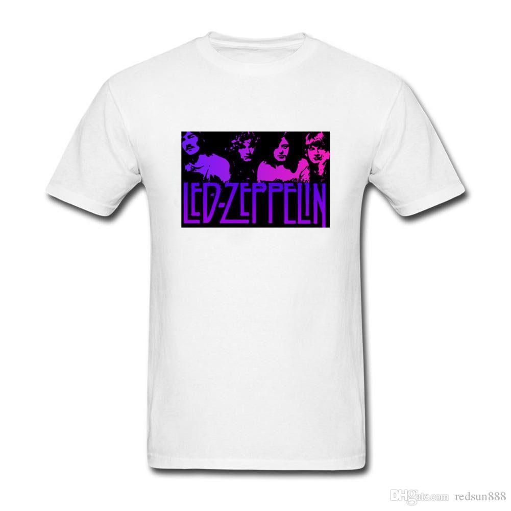 Led Zeppelin camiseta Madison Square Garden de Nueva Schwarz 1975 Tops 2019 imprimir cartas Hombres camiseta de algodón blanco Camisetas personalizadas del tamaño extra grande