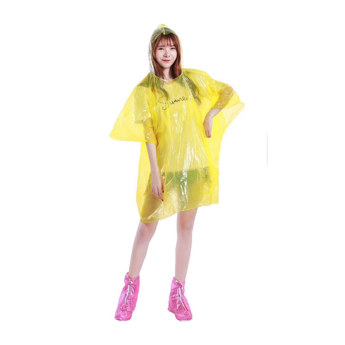 Nueva impermeables desechables impermeable capa de lluvia de las mujeres adultos con capucha largo poncho ropa impermeable color al aire libre Ramdon 2020