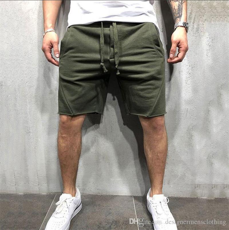 Mens Designer Sommer Shorts Pantalones Solid Color Laufen Kleidung Hip Hop Sport Freizeit Jogger Jogginghose Shorts