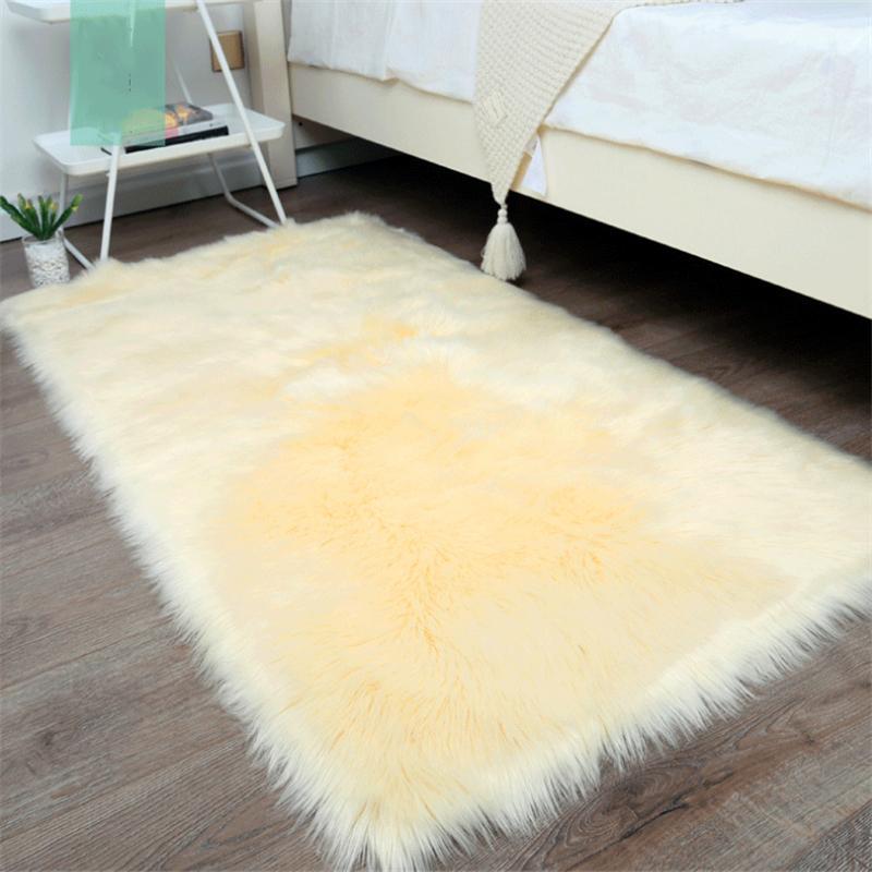 Long Hair Living Room Carpet Sofa Rug Bedroom Bay Window Bedside Carpets Decor Rugs