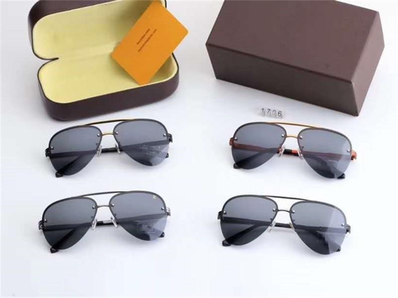 Новая скидка 4 ЦВЕТА Пара бокалов Авиатор солнцезащитные очки новое качество высокой моды с пакета Box голодает перевозка груза 1706