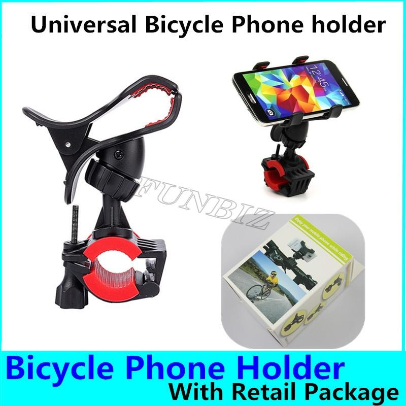 360 Degree Universal MTB Bike Bicycle Phone Holder Handlebar Mount Motorcycle Phone Holder For iPhoneX Xiaomi Samsung GPS 100pcs