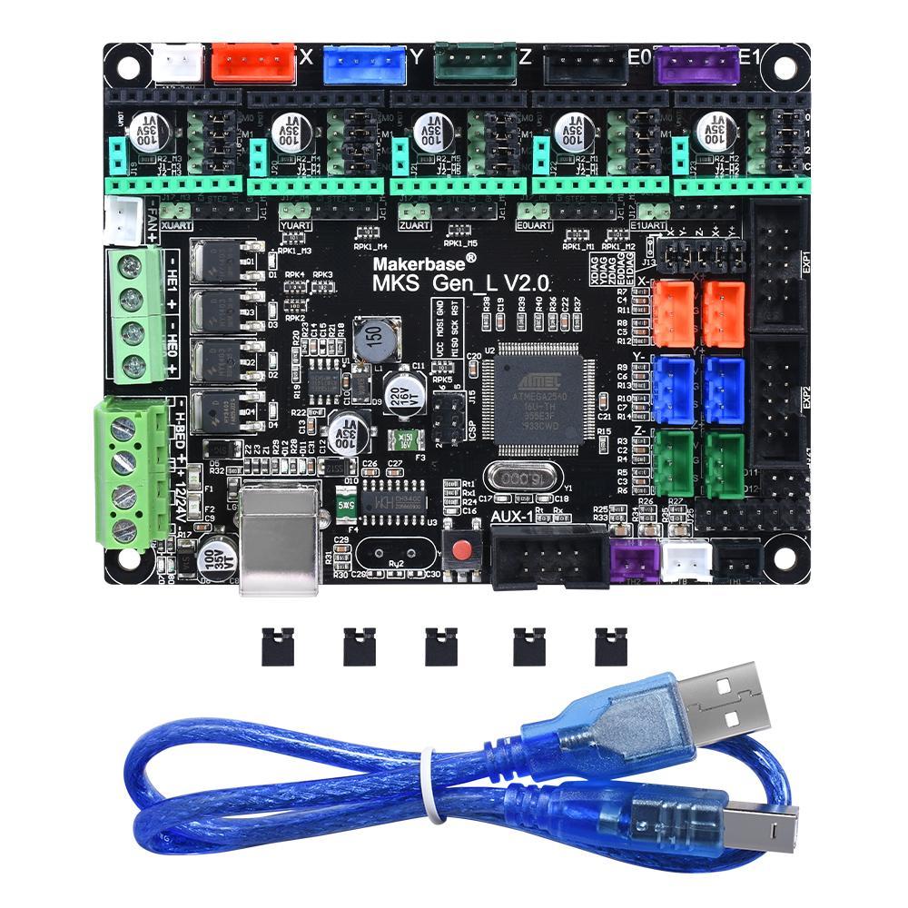 Pièces Imprimante 3D Accessoires MKS Gen L V2.0 Control Board Pour TMC2208 TMC2130 A4988 DRV8825 pilote Pièces d'imprimante 3D pour Reprap