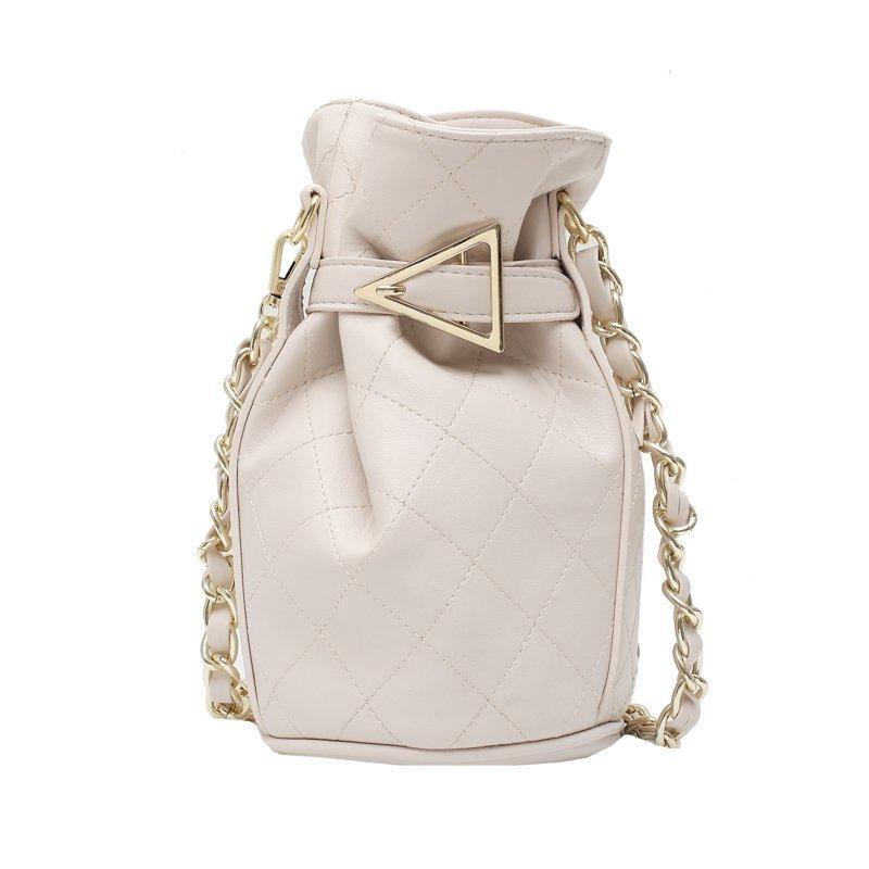 Bolsas de Crossbody Bolsa de mujer Bolsa de Cubo Bolso Sólido Bolso Bolso Cadena Cadena Señoras Color Hombro PU Bolsas de cuero SFRCU