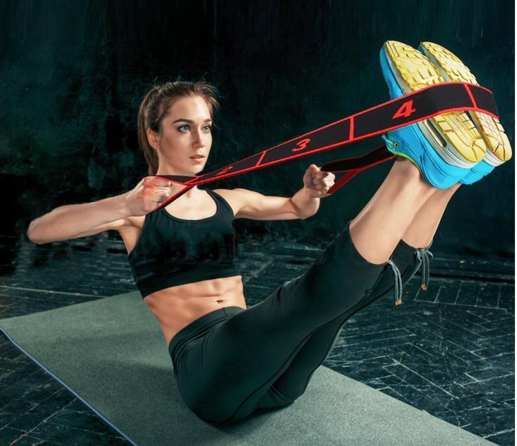 Disponibile Yoga Stripes Adult Latin Band formazione di Pilates di yoga Fasce di resistenza di stirata attrezzature Elastic Fitness Training Expander fy6150