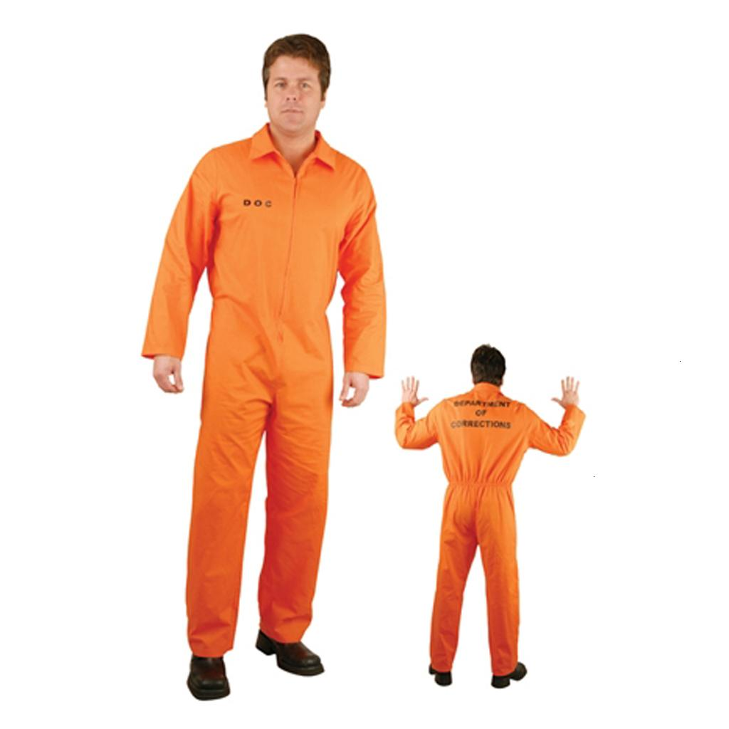 Spandex Prisoner Overall Jumpsuit Convict Stag Do Party Fancy Dress Costume Kid Adult Size for Stag Do's Fancy Dress EventMX190921