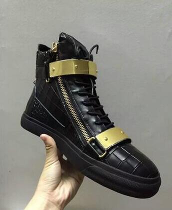 Acheter Marque Italienne Designer Hommes Chaussures En Cuir Véritable  Femmes Plate Forme Baskets Zapatos Mujer Scarpa Chaussure Baskets Montantes