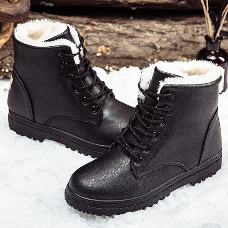 Hot Sale Black Boots Women Winter Shoes