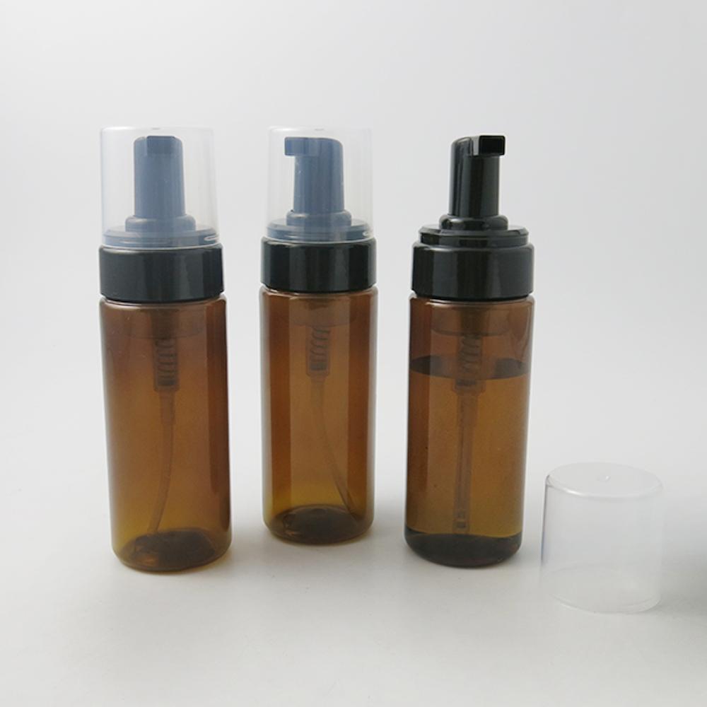 24 x 150ml leeren PET-Kunststoff-Schaumflasche Seifenspender Behälter 150cc 5 Unzen Bernstein Foam-Seife-Dispense Schaumlotion Pumpen-Flasche