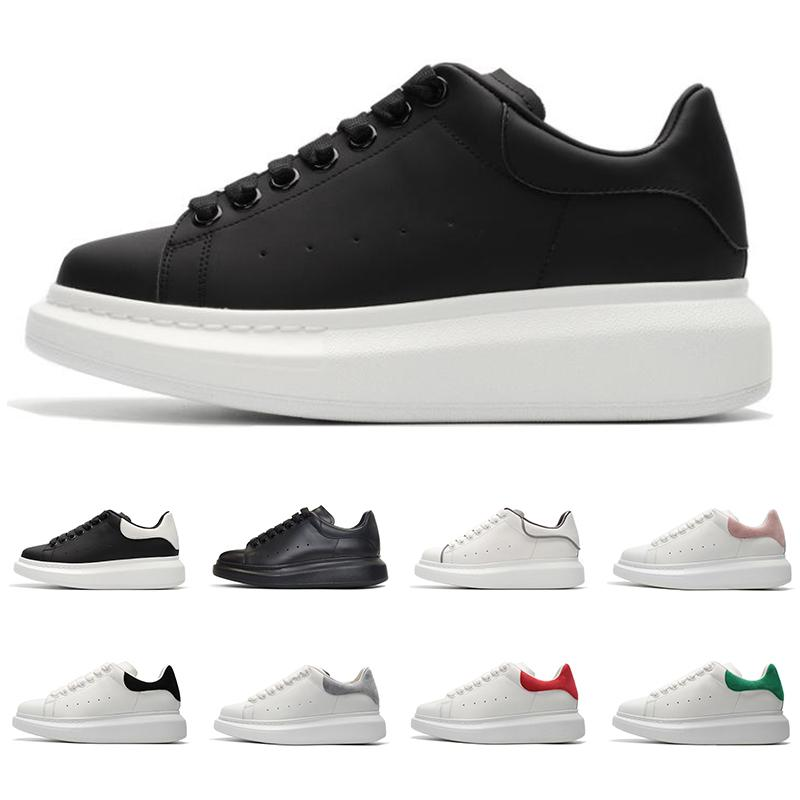 Недорогие элитные кроссовки Platform моды для мужчин женщин дизайнер обуви тройной черный белый красный замша кожа мужские кроссовки тренер Sports размер 36-44