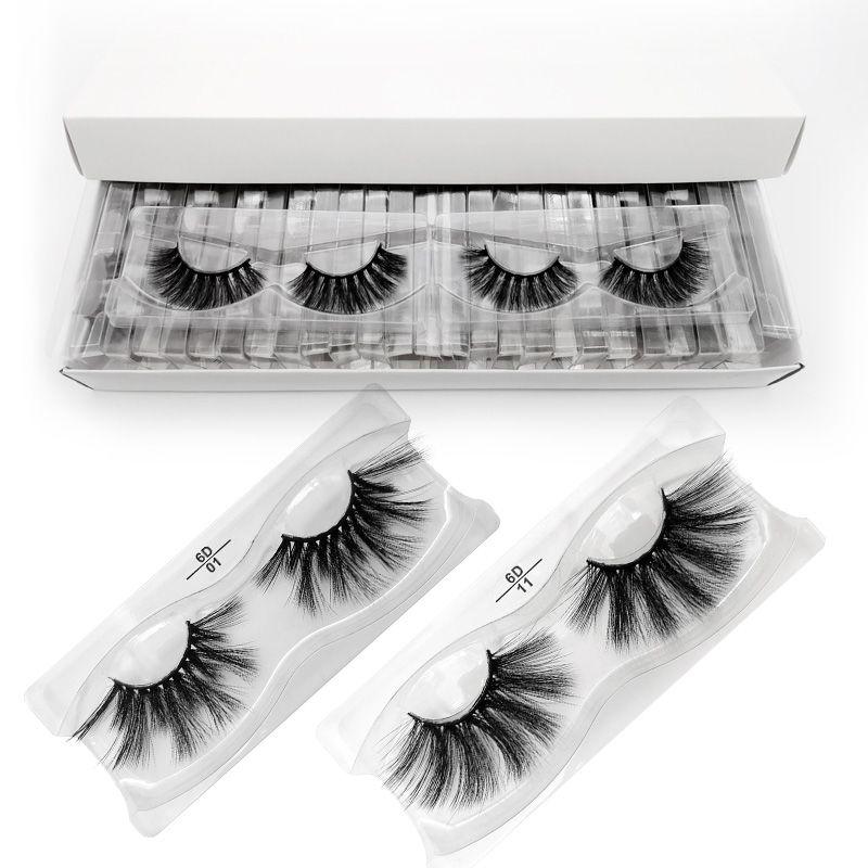 25 mm Lashes gros Vison Cils 3d Mink Lashes Cils Maquillage en vrac de 25 mm Faux long cil cilios maquillaje