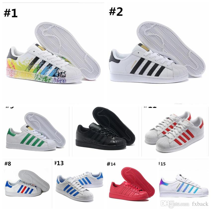 2019 hot Fashion mens Casual shoes Superstar smith stan Female Flat Shoes Women Zapatillas Deportivas Mujer Lovers Sapatos Femininos 36-45