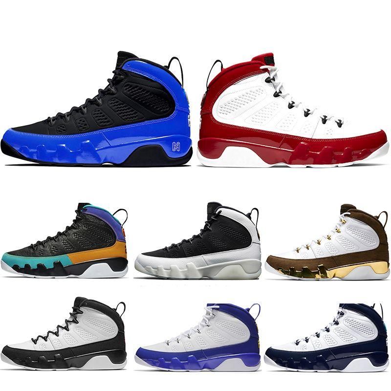 Zapatos de aire Jordan Retros 9 de baloncesto del Mens del corredor azul Unc 9s Ix Gimnasio Sueño Rojo Es lo hacen los hombres zapatillas deportivas Tamaño 7-13