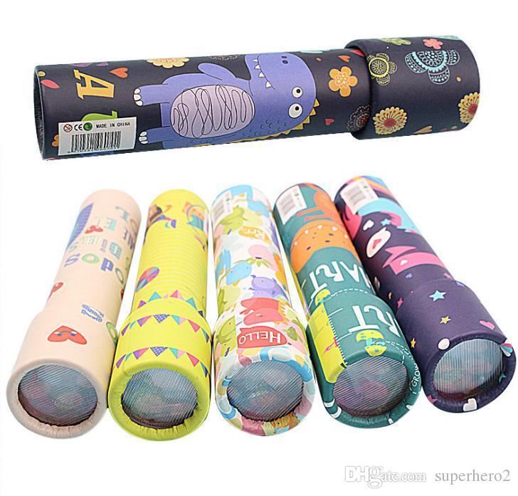 어린이 클래식 종이 만화경 최고의 선물 아이디어 교육 좋아하는 학습 지능 장난감 어린이 생일 파티 호의 또는 장식