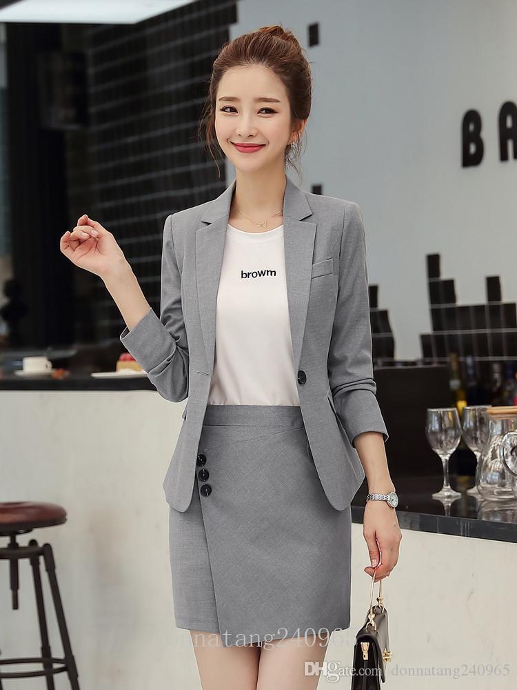 BS1986 Women blazer female 2019 new fashion elegant long sleeve slim jacket women office ladies plus size formal coat blazer