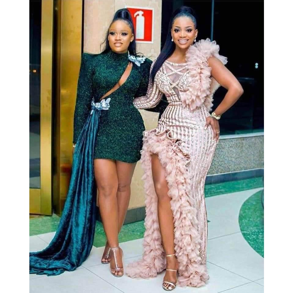 2020 Hot Sale African Evening Dress Long Sleeve One ...