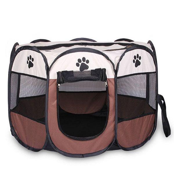 HOT-접이식 휴대용 애완 동물 텐트 개 하우스 케이지 개 고양이 텐트 놀이 틀 강아지 켄넬 손쉬운 조작 옥타곤 울타리