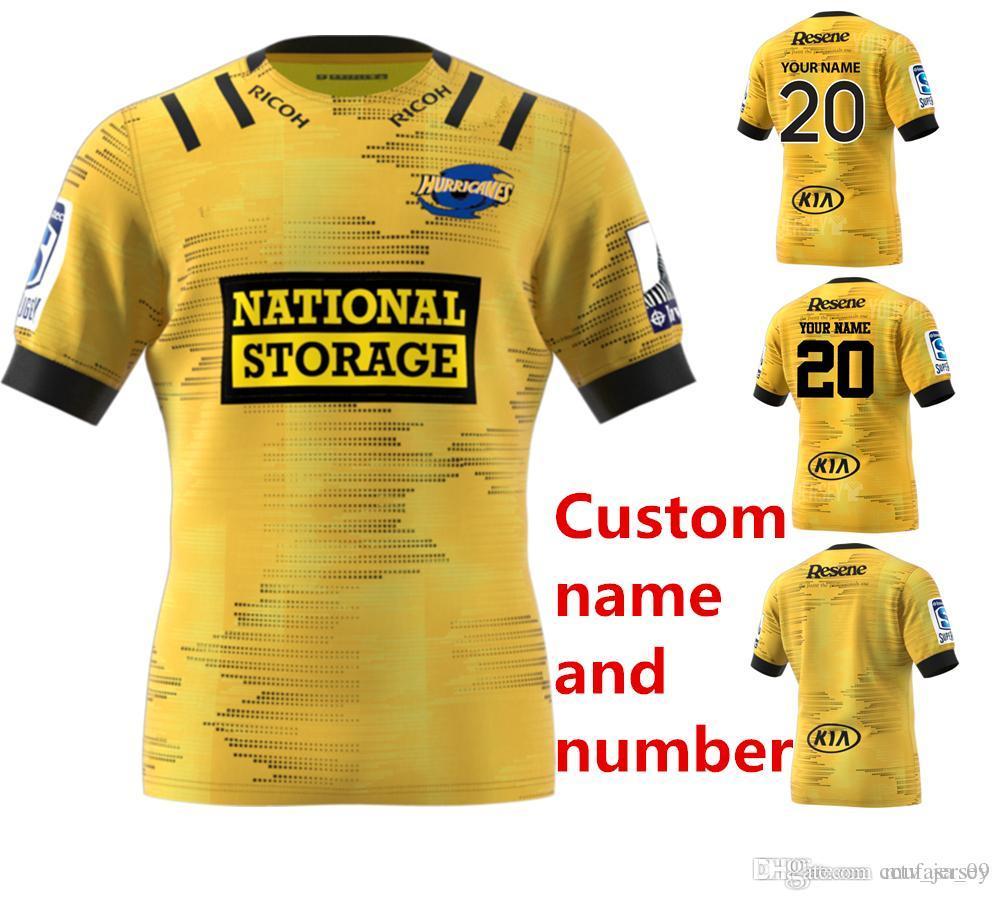 nome personalizado e número 2020 Nova Zelândia Super Rugby Jersey furacões casa Rugby Jerseys camisa