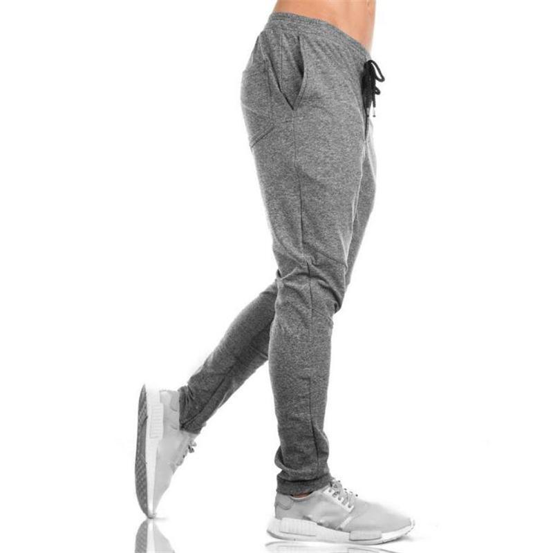 Nouveaux 2018 Automne Fitness Hommes Salles de sport Pantalons Mode Hommes Slim Fit Sweatpants Hommes Joggers culturisme Pantalon Sweat Taille 3XL