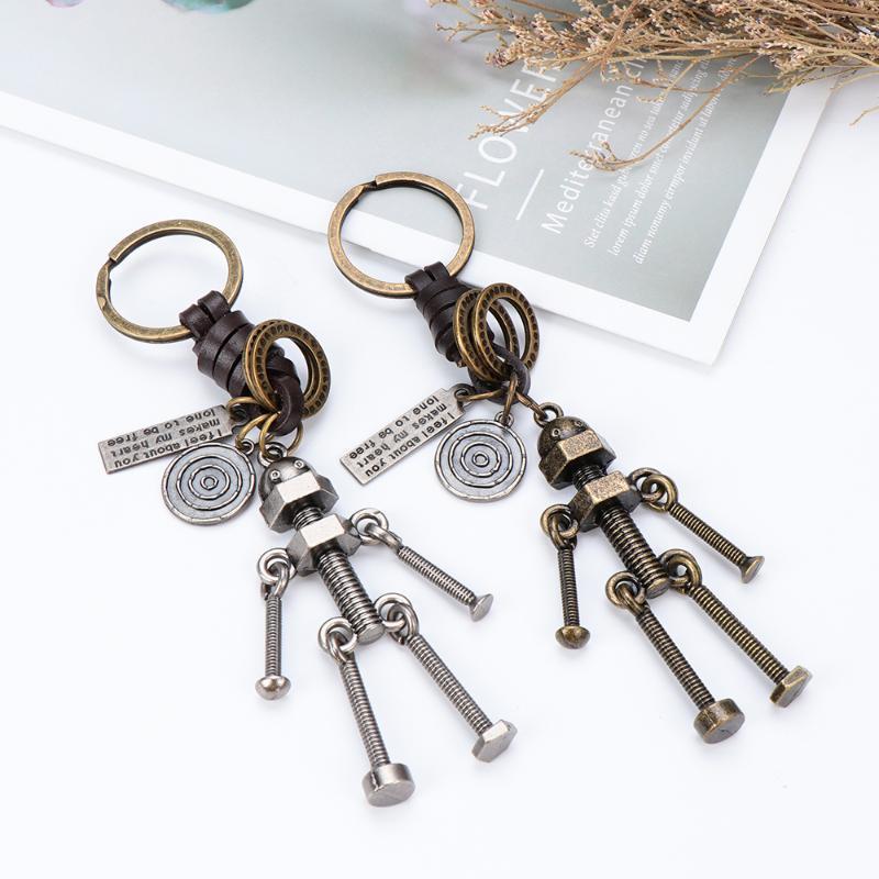 2020 Vintage Steampunk portachiavi nuovo portachiavi vite robot del sacchetto di Keychain del pendente di chiave Catene titolare della catena chiave dell'automobile Amici regalo bambini