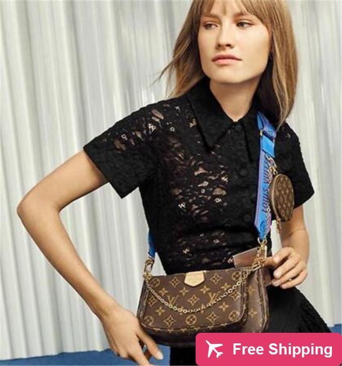 Add19 2020 Qualitäts-klassische Art und Weise Art-Frauen-Handtasche PU-Leder L Blume Schulter Umhängetasche Damen Geldbeutel 3 PC purse1