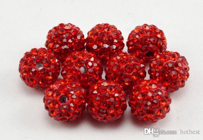 100 قطعة / الوحدة أدنى سعر 10 ملليمتر مختلط متعدد الألوان الكرة كريستال الخرزة سوار قلادة الخرز الخرز الكثير! حجر الراين diy فاصل l25425