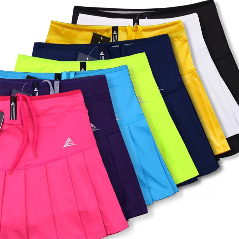 Kadınlar Skort Hızlı Kuru Spor Badminton pantolon-etek Giyim Etek Pileli Pantolon Pocket Tenis Etek Cheerleaders Giyim
