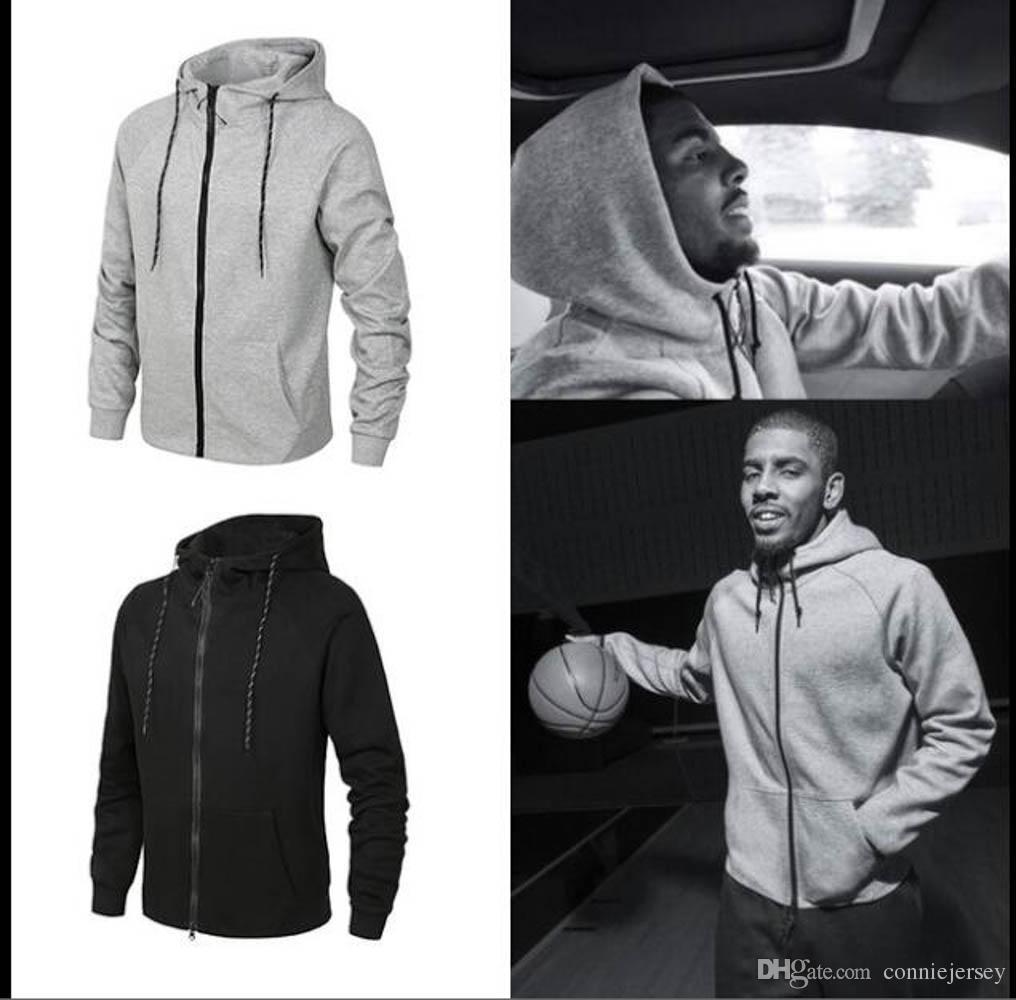 Basketbol Ceketler Erkekler Hoodie Üniformaları Koşu Ceket Rüzgarlık Sıcak Satış Spor Kapüşonlu Mont erkek Sportwears 100% Pamuk Ceket