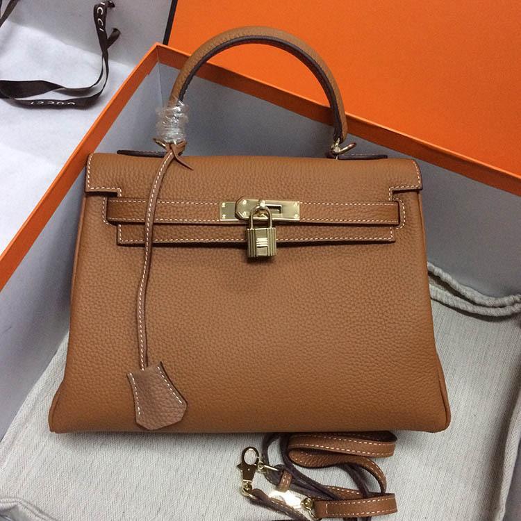 K L حقائب جلد حقيقي حقيبة اليد الأزياء حقيبة يد محفظة هارمز السيدات المحافظ حقيبة يد 25CM 28CM 32CM حقيبة يد
