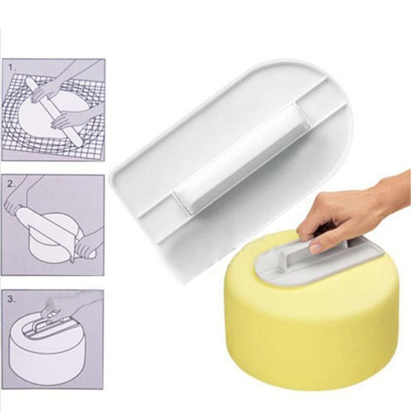1 шт. пластиковые торт плавное полировщик инструменты украшения пирога гладкой фондант инструмент торт шпатели торт DIY выпечки инструменты