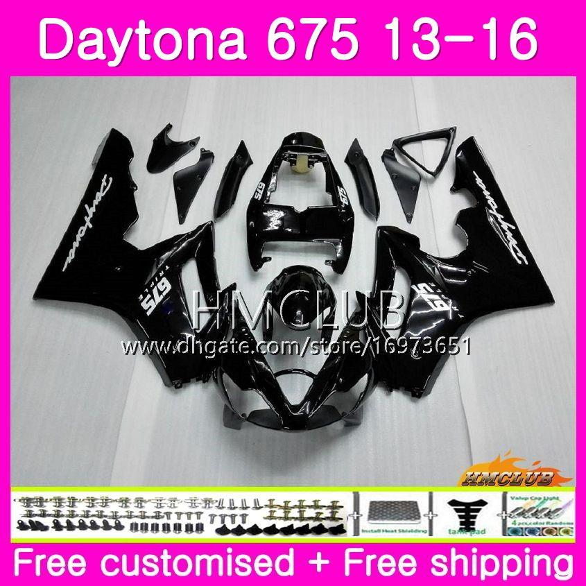 Body kit For Triumph Daytona 675 13 14 15 16 Bodywork 45HM.1 Daytona-675 Daytona 675 Daytona675 2013 2014 2015 2016 Black Glossy Fairings