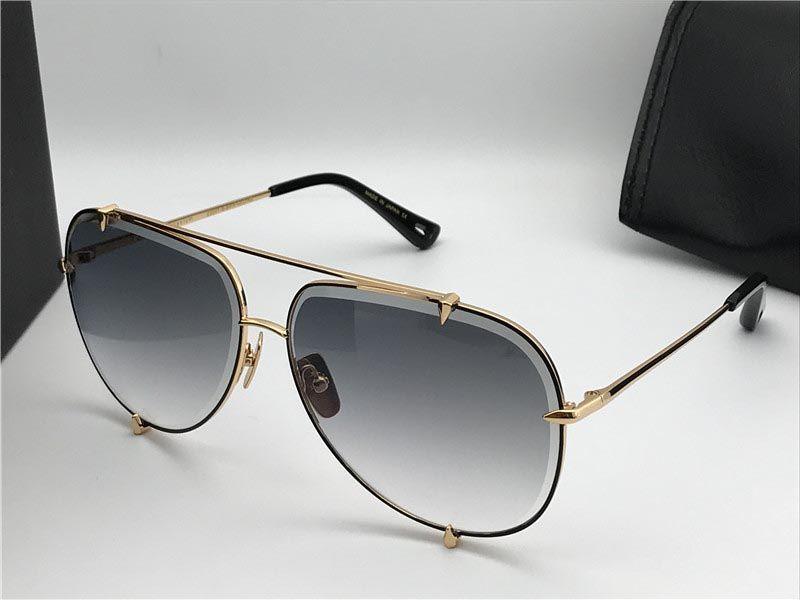 تصميم النظارات الشمسية T 3.0 الرجال المعادن النظارات خمر الأزياء نمط الطيار الإطار uv 400 عدسة مع القضية