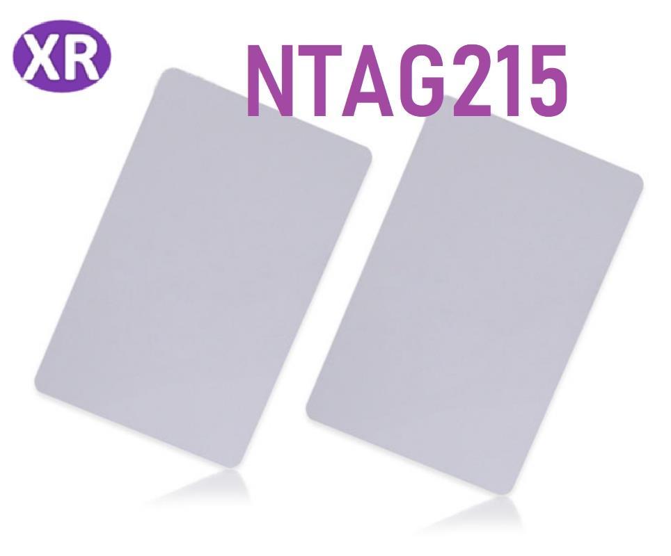 액세스 제어에 대한 모든 NFC 휴대 전화에 대한 CR80 카드 크기 NTAG215 NFC 카드 NFC 포럼 제 2 형 태그 13.56MHz의 근접 태그 ISO 14443A RFID 카드