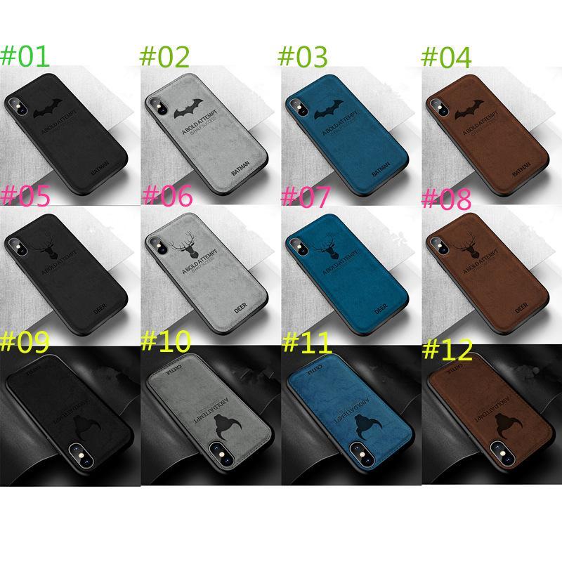 IPHONE XS MAX XR 6 7 8 Artı Xiaomi Vivo R17 OPPO Huawei İçin Yumuşak Bez Telefon Kılıfı Kapak TPU Cep Telefonu Kapaklar